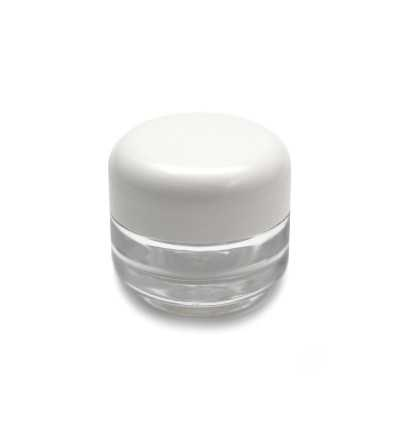 Transparent Crystal Cream Jar 15 ml.