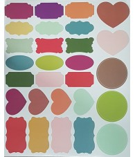 Etiquetas Colores para 28 Tarros/Frascos