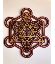4 Layers Metatron Wood