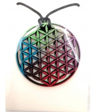 Hanging Wood Flower of Life