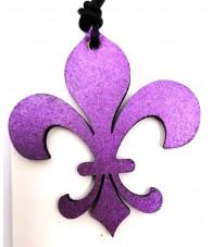 Flower of Lys Wood Pendant