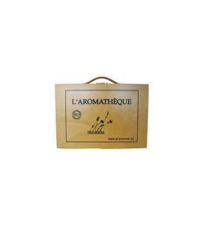 "Caja Madera ""Aromateca"" Frascos 5/10 ml - Pranarom"